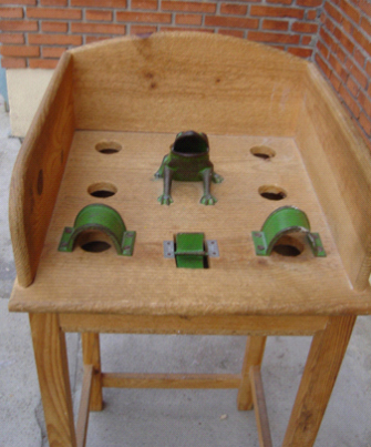 Mesa del juego de la rana